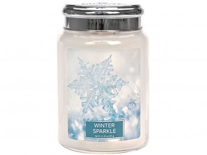 village candle svicka winter sparkle velka