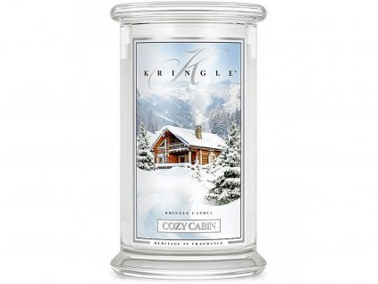 kringle candle svicka cozy cabin velka