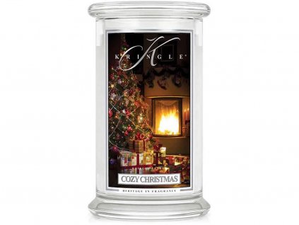 kringle candle svicka cozy christmas velka