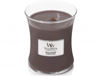 woodwick svicka sueded sandalwood stredni