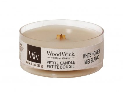 woodwick svicka white honey petite candle