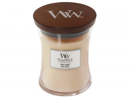 woodwick svicka white honey sredni