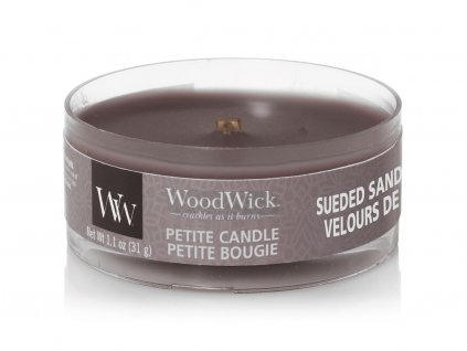 woodwick svicka sueded sandalwood petite candle
