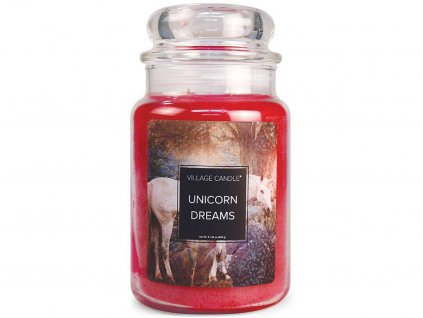 village candle svicka unicorn dreams velka