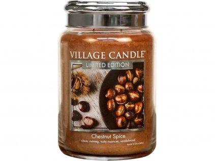 village candle chestnut spice velka