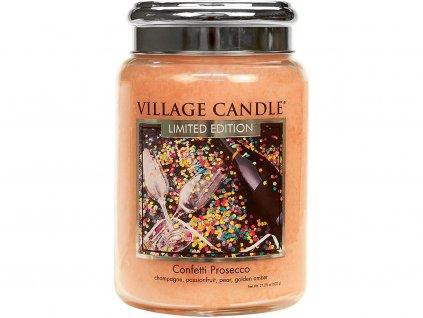 village candle confetti prosecco velka