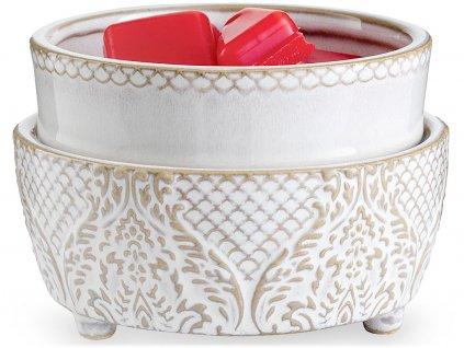candle warmers elektricka aromalampa vintage white