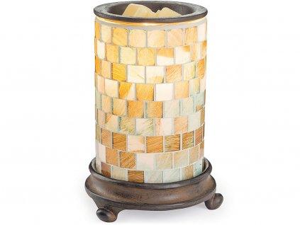 candle warmers elektricka aromalampa sea glass illumination rozsvicena