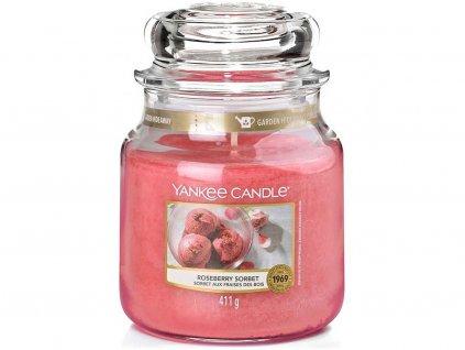 yankee candle svicka roseberry sorbet stredni