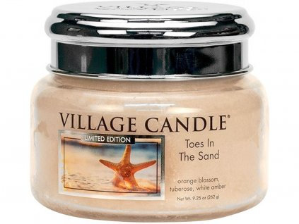 village candle toes in the sand mala