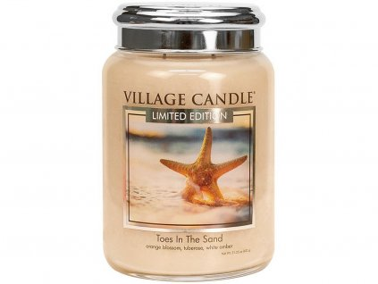 village candle toes in the sand velka