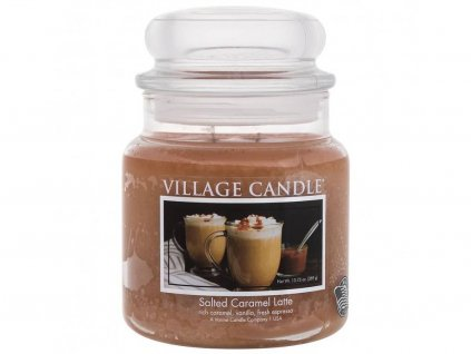 village candle salted caramel latte stredni