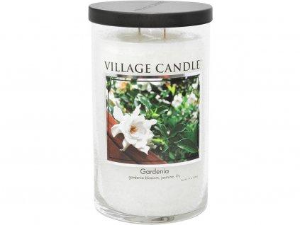 village candle tumbler gardenia svicka 2 knoty