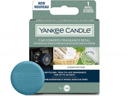 yankee candle napln vune do auta clean cotton