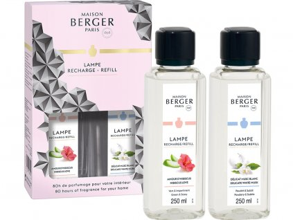 maison berger paris duopack naplne do katalyticke lampy hibiscus love delicate white musk