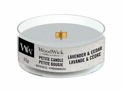 woodwick lavender cedar petite candle