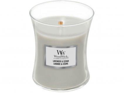woodwick lavender cedar stredni