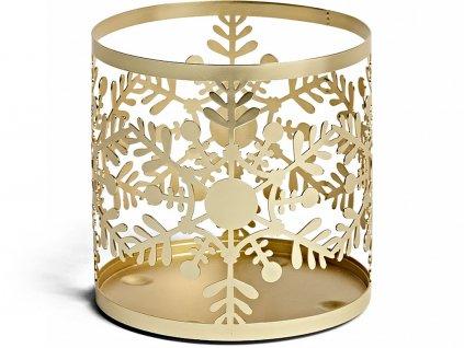 yankee candle snowflake frost kovovy svicen na svicku