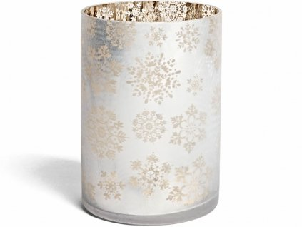 yankee candle snowflake frost skleneny svicen na svicku