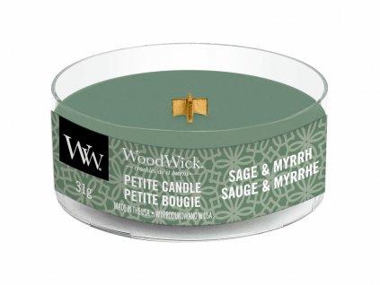 woodwick sage myrrh petite candle