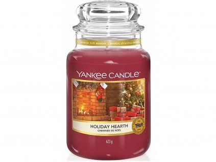 yankee candle holiday hearth svicka velka