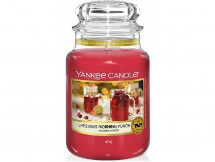 yankee candle christmas morning punch svicka velka