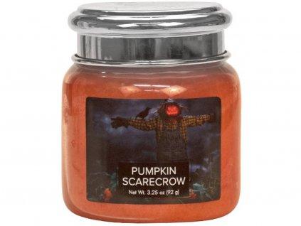 village candle pumpkin scarecrow svíčka malá 92g