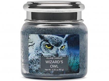 village candle wizards owl svíčka malá 92g