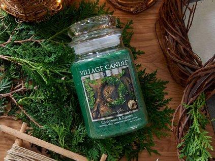 village candle cardamom cypress 602g