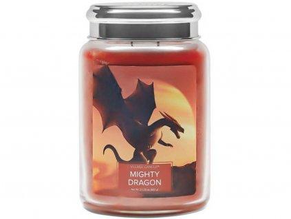 village candle mighty dragon svíčka 602g