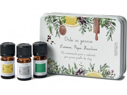 nasoterapie sada esencialnich oleju citron pepr bazalka