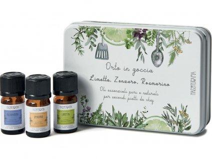 nasoterapie sada esencialnich oleju limetka zazvor rozmaryna