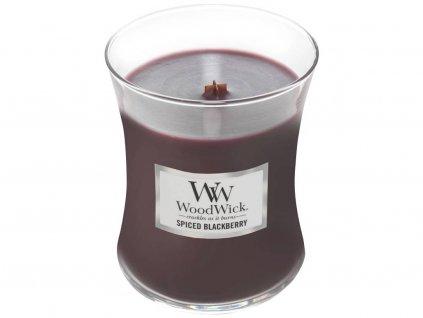 woodwick spiced blackberry stredni