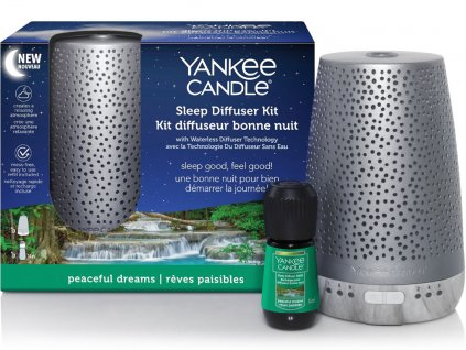 yankee candle elektricky difuzer pro klidny spanek stribrny