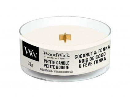 woodwick petite coconut tonka
