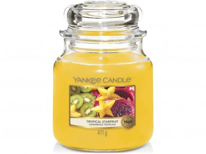 yankee candle tropical starfruit stredni