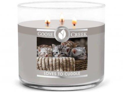 goose creek loves to cuddle