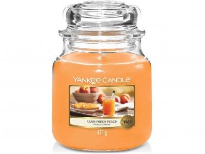 yankee candle fresh farm peach stredni