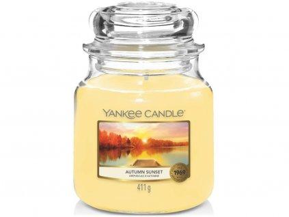 yankee candle autumn sunset stredni