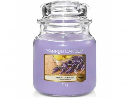 yankee candle lemon lavender stredni