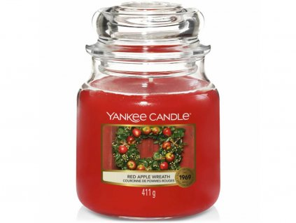 yankee candle red apple wreath stredni svicka