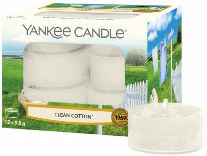 6335 yankee candle cajove svicky clean cotton 12 ks