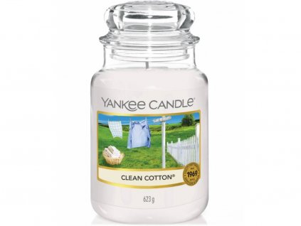 yankee candle clean cotton velka