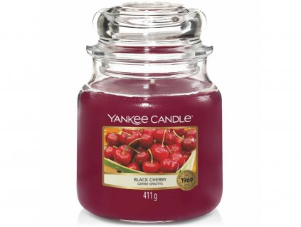 yankee candle black cherry stredni