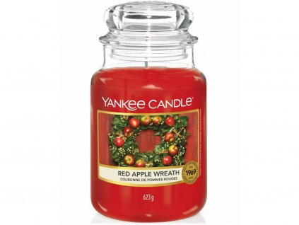 yankee candle red apple wreath velka svicka