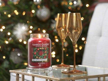 6422 yankee candle vonna svicka red apple wreath velka