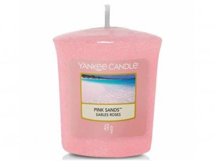 yankee candle pink sands votivni