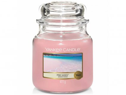 yankee candle pink sands stredni