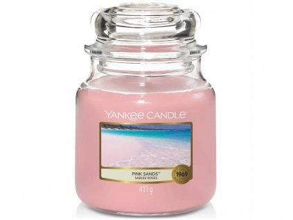 yankee candle pink sands svicka stredni