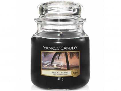 yankee candle black coconut stredni